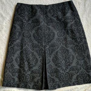 Ann Taylor Wool Blend Grey Skirt